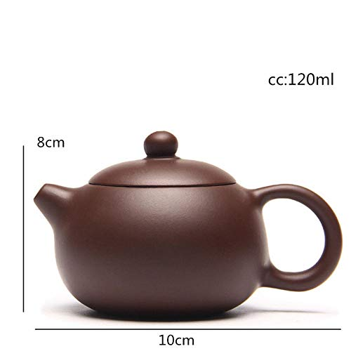 Tetera De Cerámica Cerámica Tetera Purple Sand Xi Shi Yixing Tetera Famoso Hecho A Mano Original Mine Purple Mud Tea Chinese Yixing Teaware 120Ml