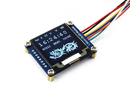Waveshare 1.5inch OLED Display Module 128x128 Pixels 16-bit Grey Level with Embedded Controller Communicating via SPI or I2C Interface