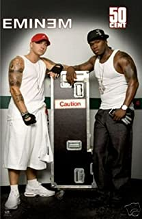 New Eminem and 50 Cent Poster - Fifty Caution 24x36