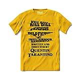 Mush dressyourstyle T-Shirt End Credits Quentin Tarantino Movie Logo Uomo - Movies Cult - Maglietta a Manica Corta 100% Cotone Organico - XXL