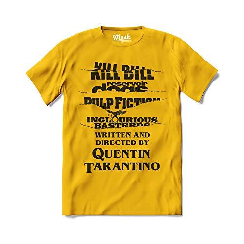 Mush dressyourstyle T-Shirt End Credits Quentin Tarantino Movie Logo Uomo - Movies Cult - Maglietta a Manica Corta 100% Cotone Organico - XL