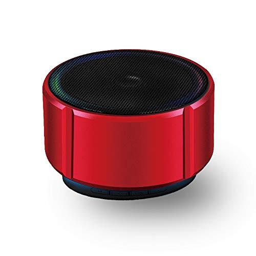 Altavoz portátil, Micrófono FM de Alta Definición Incorporado, Adecuado para Teléfonos Móviles, MP3, Tabletas (Rojo)