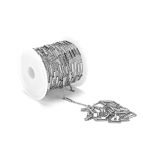 KASD Cadena de Acero Inoxidable, Cadenas de Metal Tiene una Amplia Gama de usos para Hacer Pulseras de joyería únicas para Hacer Collares de joyería únicos