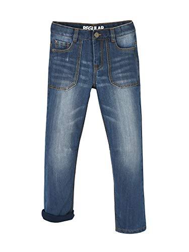 Vertbaudet Robuste Jeans für Jungen, gefüttert Blue Stone 134