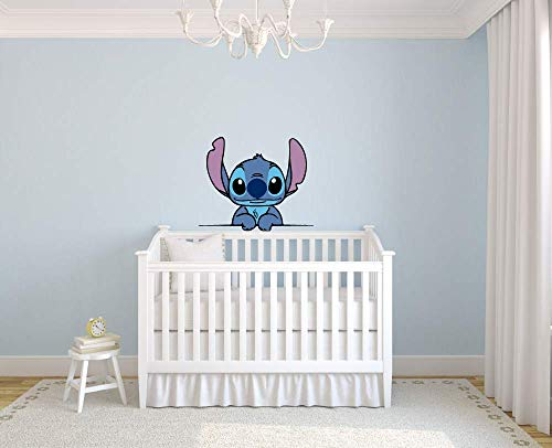 Lilo and Stitch Cute Disney Character Wall Art Graphic Decal Sticker Vinyl Mural Baby Kids Room Bedroom Nursery Kindergarten School House Home Wall Art Design Removable Peel and Stick 40x20 inch