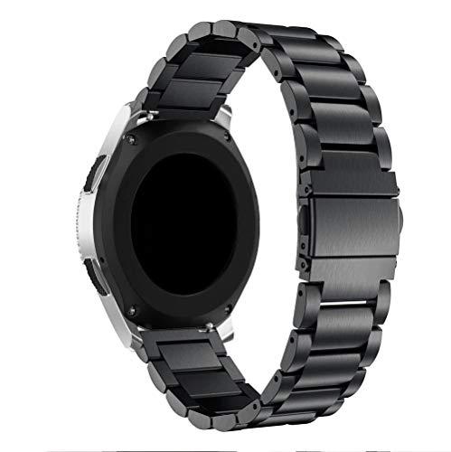 Pulseira De Aço Inox 22mm Para Galaxy Watch 46mm Bt Nfe (Preto)