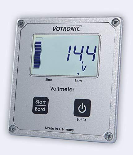 Votronic 1256 LCD-Voltmeter S für SR u. MPP Laderegler
