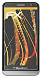 atFolix Panzerfolie kompatibel mit BlackBerry Z30 Schutzfolie, entspiegelnde & stoßdämpfende FX Folie (3X)