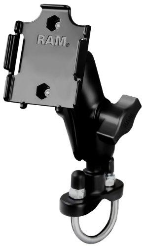 Ram Mount Handlebar Rail Mount with Zinc Coated U-Bolt Base for Apple iPod Nano 3G 3rd Generation (Black)