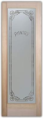 SANS Soucie - Pantry Door - Naples Harrington (Element) - 1D Negative Frosted - Traditional / Primed