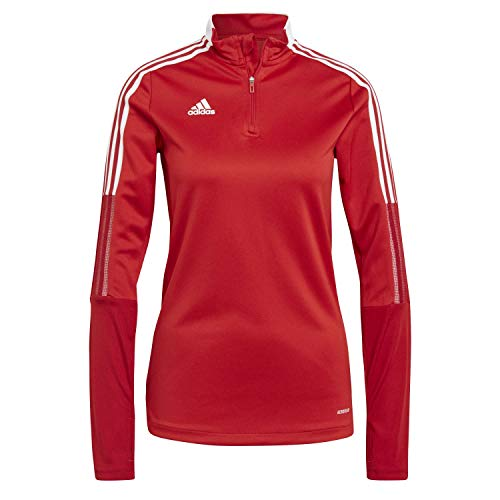 adidas GM7317 TIRO21 TR Top W Pullover Donna Team Power Red S