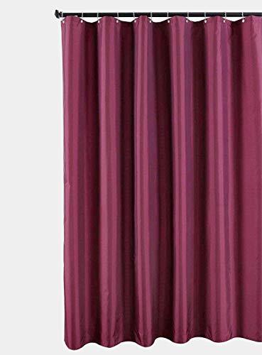 Duschvorhang, Stoff, dunkelgrau, 180cm x 200cm,Weinrot,Enthält nicht 12 Haken