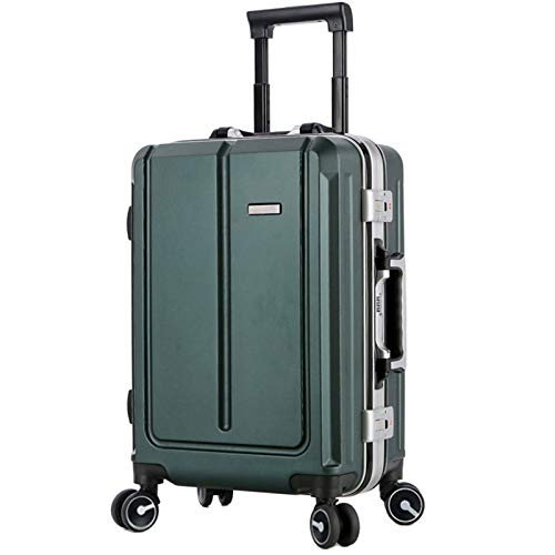 Adlereyire Trolley Suitcase Lightweight Durable Carry On Cabin Hand Luggage Set, Travel Bag with 4 Wheels (Color : Green, Size : 45 * 27 * 67cm)