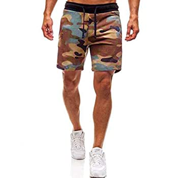 Kariwell Fashion Men s Sport Shorts - Jogging Camouflage Pant Casual Sweatpants Drawstring Shorts for Outdoor Running Hiking Camping Swimming Kari-117