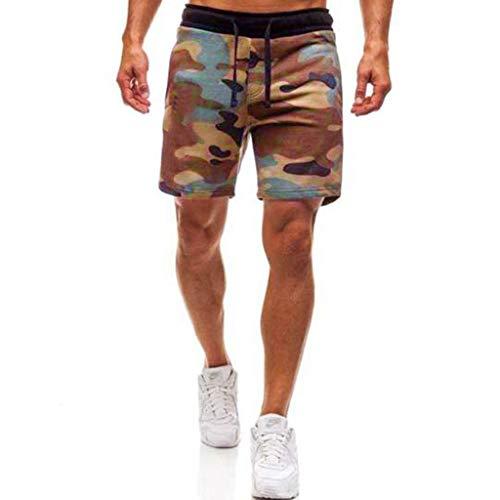 FRAUIT Mode Heren Camouflage Sport Shorts Jogging Broek Casual Sweatpants Drawstring Shorts Zwembroek Strand Surf Shorts Super kwaliteit Slijtvast Stretch Zacht Comfortabele chino-cargobroek