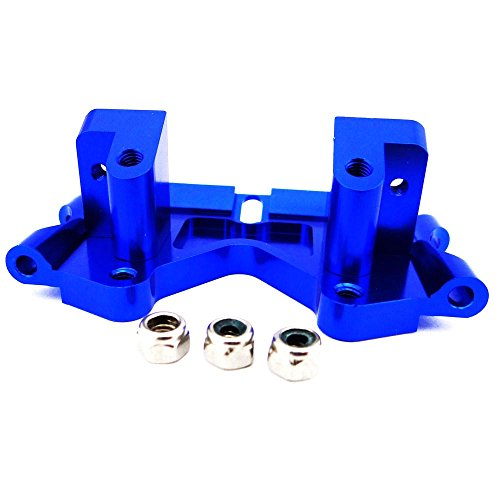 Atomik RC Alloy Front Lower Bulkhead, Blue fits The 1/10 Slash and Other Models - Replaces Part 2530