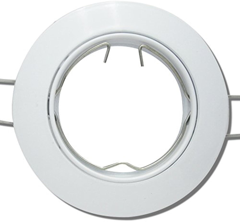 7 Stück Decken Einbaustrahler Linus 230 Volt Ohne Leuchtmittel Schwenkbar inkl. Stromfassung GU10 Wei
