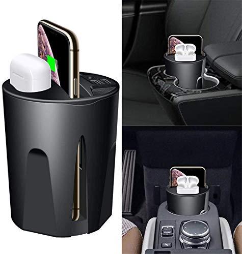 OH Cargador Inalámbrico de Automóvil 3 en 1 Adecuado para el Iphone 11 10W Copa Del Cargador Inalámbrico con Usb para Iphone 11 / Pro/Pro Max para Airpods 2To Disipación de calor
