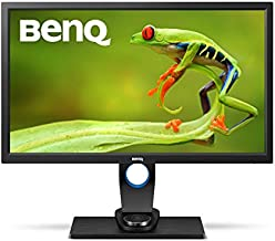 BenQ SW2700PT 27 Inch QHD 1440P IPS Photography Monitor   Aqcolor technology for Accurate Reproduction   Hotkey Puck Efficiency Boost,Black