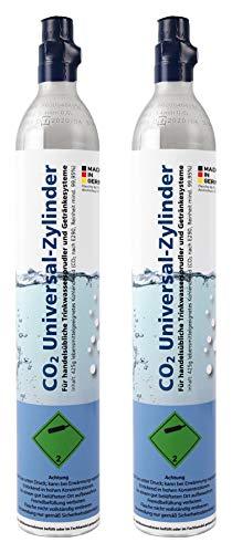 Soda Zylinder/60 Liter Premium CO2-Kartusche für Wassersprudler z.B. Soda Stream/gefüllt mit 425g Kohlensäure (2 Stück)