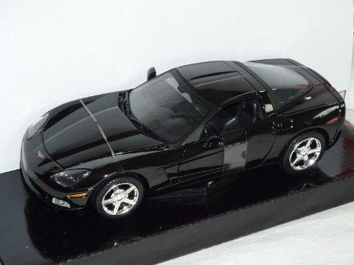 Motormax Chevrolet Chevy Corvette C6 C 6 Ab 2005-2012 Coupe Schwarz 1/24 Modellauto Modell Auto