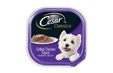 Cesar Soft Wet Dog Food Classic Loaf in Sauce Grilled Chicken Flavor Multipack, (12) 3.5 oz. Easy Peel Trays