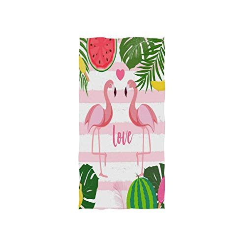Rode zachte 30 x 15 inch washandjes zomer flamingo vogel watermeloen handdoek handdoek van Hotel Spa Gym Sport Beach
