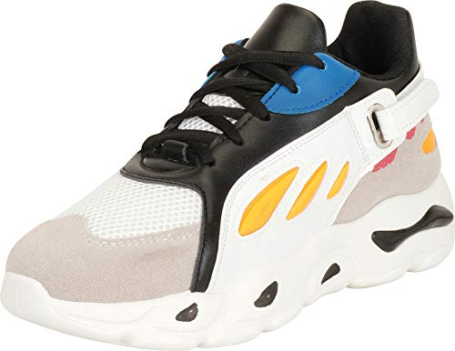 Cambridge Select Women's Retro 90s Ugly Dad Lace-Up Chunky Platform Fashion Sneaker,6 B(M) US,Black/White