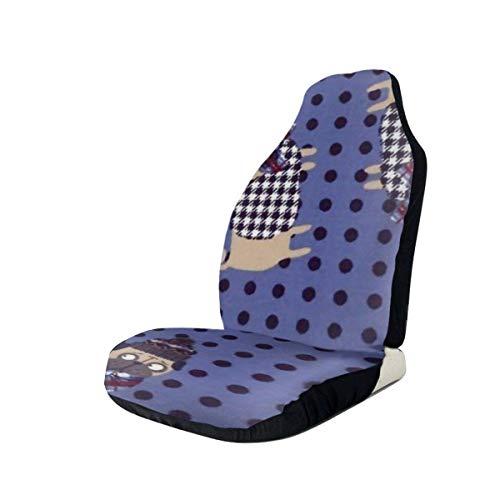 AEMAPE Chritmas Dog Cotton Pattern States Fundas de asiento de coche Protector de asiento de vehículo Fundas de coche para automóviles Sedan SUV