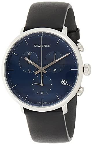 Calvin Klein Orologio Cronografo Quarzo Unisex Adulto con Cinturino in Pelle K8M271CN