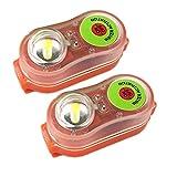 Ahorro de luz LED estroboscópica de Seguridad ultrabrillante activada por Agua Que se Conecta fácilmente al Chaleco Salvavidas, Anillo y más para una Mayor y Seguridad Mientras está en el Agua