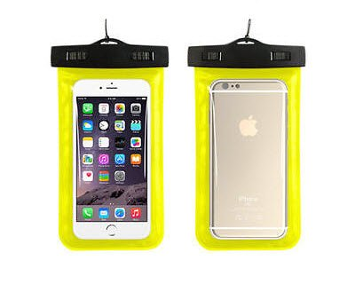 BEST SHOPPER Universal Waterproof Underwater Pouch Dry Bag Case Cover Cell Phone Swimming Bag Fits Most Mobile Phones - Yellow