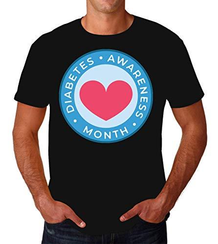 Diabetes Awareness Month Heart Men's T-Shirt Hombre Camiseta