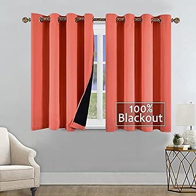 YGO 100% Blackout Window Curtain Panels