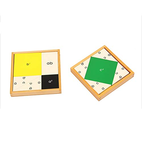 YHZAN Montessori Pythagoras Board Math Material School Teaching Aids Pythagorean Triples and Fermat s Last Theorem Wooden