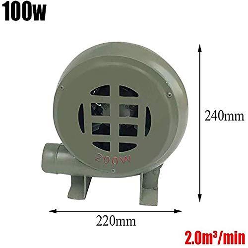 WLD Zomerairconditioning, ventilator, houtskool, starter, ventilator, rookventilator, barbecue luchtblazer, centrifugale industriële pompventilator, voor barbecue-verbranding, opblaasbaar slot A 100W