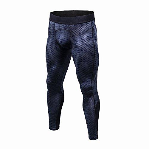 スポーツタイツ メンズ パワーストレッチ コンプレッション タイツ ロング アンダーウェア [UVカット + 吸汗速乾]