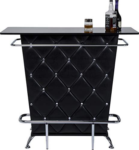 Kare Design Bar Lady Rock Black, extravaganter Bartisch, Schwarz-Silber (H/B/T) 104x120x52cm