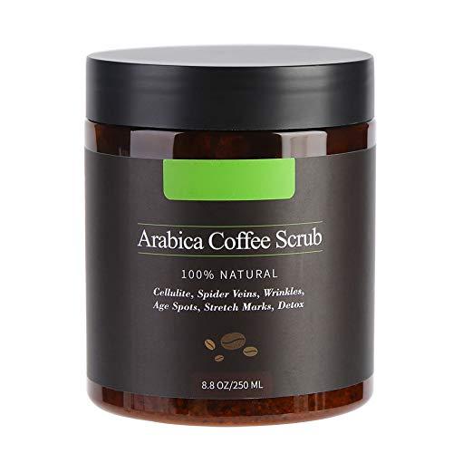 100% Natürliches Arabica Kaffee Körper Peeling Creme, Body-Scrub Körperpeeling Badesalz Anti-Aging Pflege gegen Unreine Haut für Gesicht und Körper, 250g