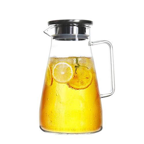 Koffie en Thee Karaf Glazen Bubble Theepot Explosiebestendige Verwarming Sap Pot Thuis Koel Water Fles Met Deksel Filter Fruit Theepot 1600ml