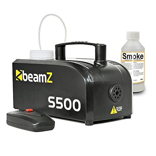 beamz Compact S500 Smoke Fog Mist Effect Machine w/Remote Control & 100ml...