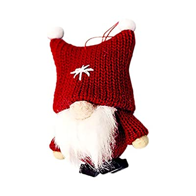 Christmas Decorations Home Decor Doll, Christmas Ornaments Plush Long Hat Forest Man Figurine Creative Xmas Santa Claus Faceless Doll Gifts