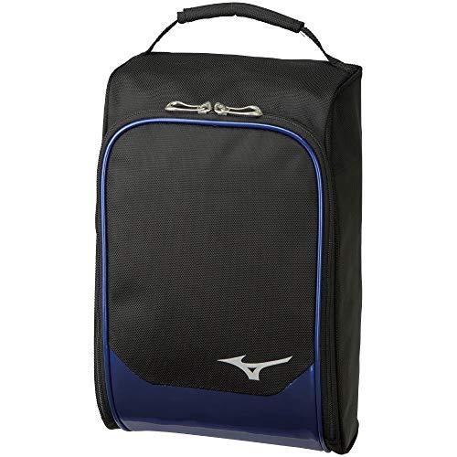 MIZUNO(ミズノ) ゴルフ シューズケース メンズ 1足入れ 22×13×34cm ブラック×ブルー 5LJS200100