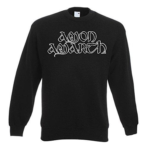 LaMAGLIERIA Unisex-Sweatshirt Amon Amarth White Logo - Set-In Sweatshirt, L, Schwarz