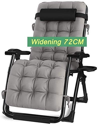 FTFTO Office Life Patio Rocking Chair Zero Gravity Balcon Chaise Longue de Jardin Convient à Toutes Les Occasions telles Que Les plages extérieures Support200kg (Couleur: Gris avec Coussins)