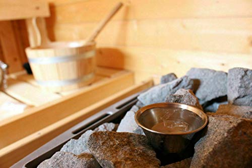 Sauna Verdampferschale/Aromaschale aus Edelstahl inkl. GRATIS 10g Mentholkristalle - Passend für jeden Saunaofen - Beim Aufguss langanhaltender frischer, kühlender Duft!