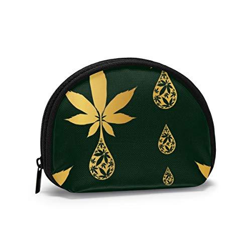 Monedero pequeño de patrón sin Costuras con Gota de Aceite de Cannabis...