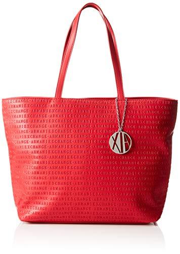 Armani Exchange - Womans Shopping, Bolsos totes Mujer, Rojo (Red), 29.5x10x43 cm (B x H T)