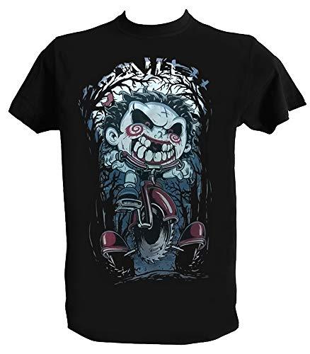 Desconocido Camiseta Saw Hombre Niño Negra Jigsaw Triciclo Peliculas Terror, Hombre - M