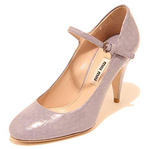 Miu Miu 8124I Decollete Donna Lilla Viola cinturino Scarpe Shoes Women [35]